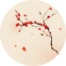 cerisier en fleur rond